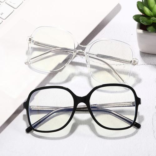 TR90 Blue Light Blocking Glasses Oversize Eyeglasses with Anti Blue Light Lenses