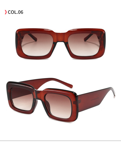 Retro Vintage 90s Sun glasses Cheap Solid Thick Rectangle Men Women Fashion Trendy Sunglasses