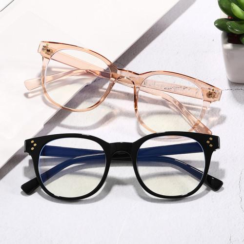 Retro Vintage Round TR90 Frame Blue Light Blocking Glasses for Men Women