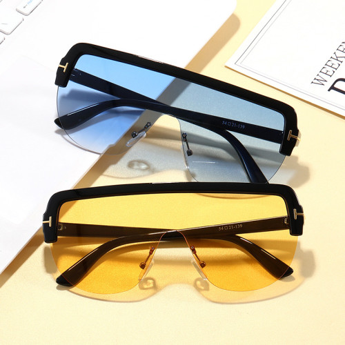 Big Frame Sun glasses Oversize One Piece Lens Shield Sunglasses