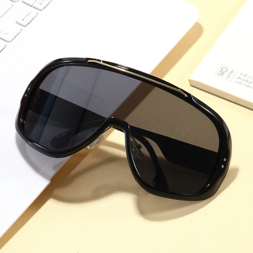 Large Frame Sports Sun glasses Mono Lens Mirrored UV400 Oversize Cycling Shield Sunglasses