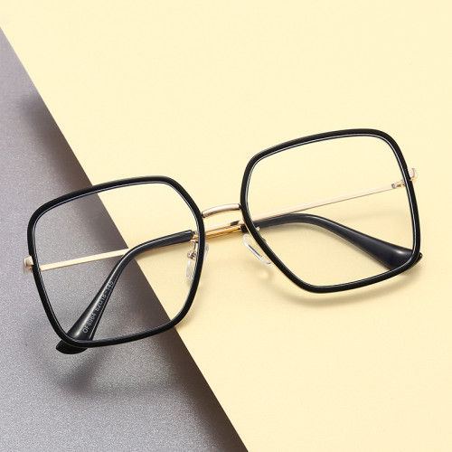 Square Optical Frames Office Blue Light Blocking Computer Glasses