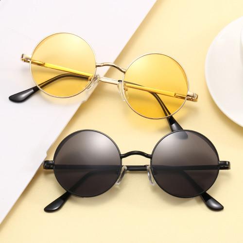 Retro Vintage Round Metal Steampunk Style Sunglasses