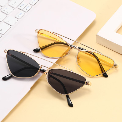 Retro Vintage 90s Sun glasses Metal Frame Small Cat Eye Sunglasses