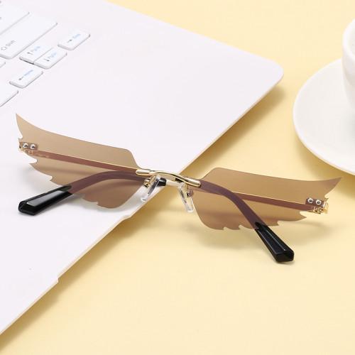 Rimless Angle Wings Sunglasses