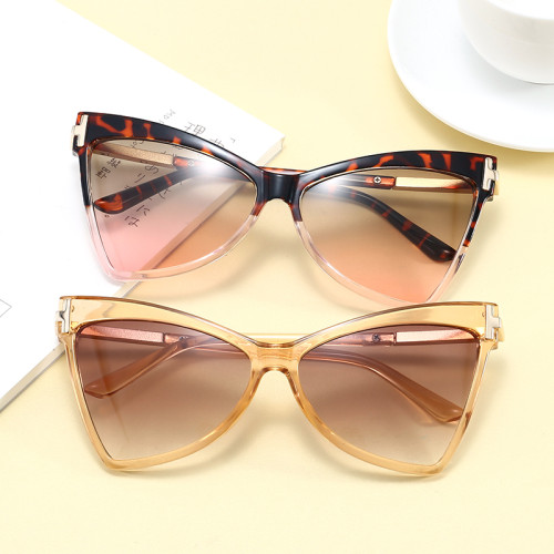 Oversized UV400 Women Butterfly Cat Eye Sunglasses