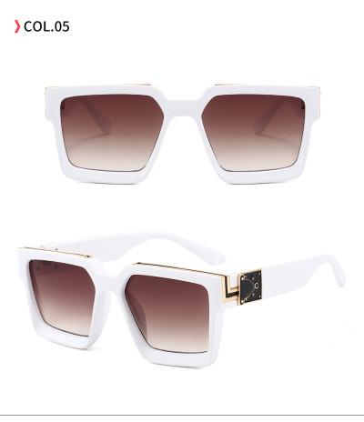 Men Women Square Oversized UV400 Black Shades Sunglasses