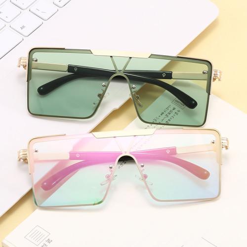 Oversized Flat Top Men Women UV400 Shades Sunglasses