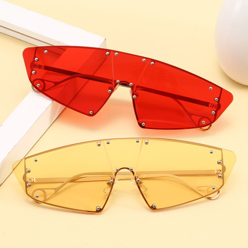 Steampunk One Piece Lens Designer Women Sunglasses