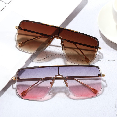 Semi-rimless Gradient Sunglasses