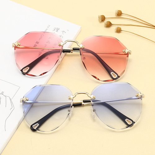 Fashion 2020 Rimless Women Sunglasses