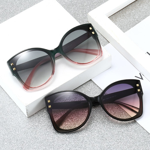 Oversized Fashion Women Black Shades Sunglasses