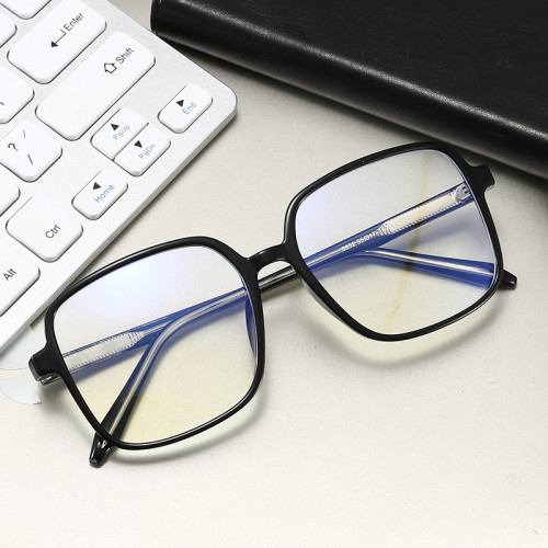 Oversized TR90 Frame Square Blue Light Blocking Computer Glasses