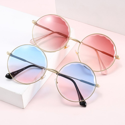 Round Diamond Cut Tinted Gradient UV400 Women Shades sunglasses