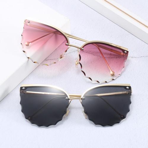 Semi-rimless UV400 Women Cat Eye Sunglasses