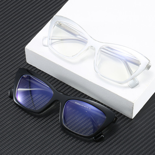 High Quality Office Lady Computer Eyeglasses Women Cat Eye Blue Light Blocking Glasses