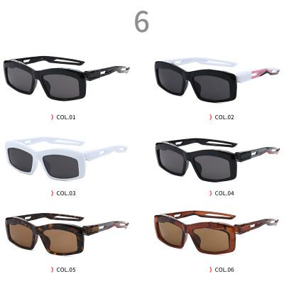 UV400 Plastic Designer Narrow Rectangle Sporty Sunglasses