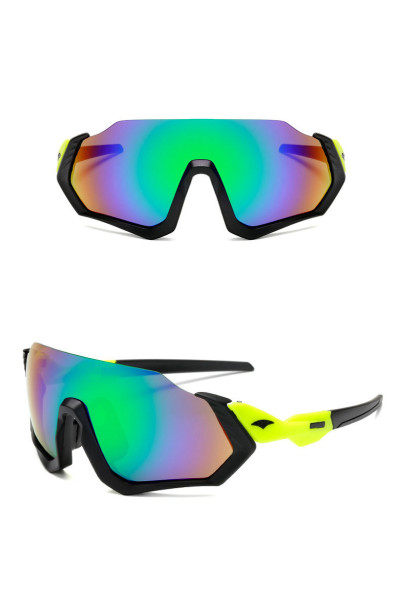 Half Frame Oversized Mirrored Outdoor Sports Cycling Sunglasses