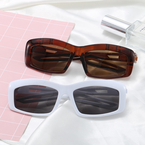 UV400 Plastic Designer Narrow Rectangle Sporty Sunglasses