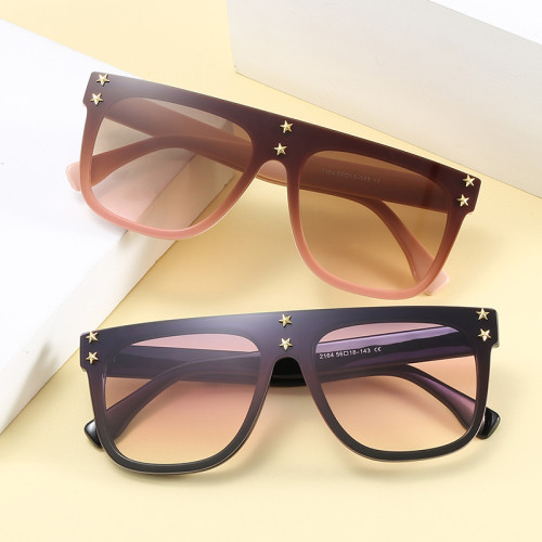Men Women Mono Lens Flat Top UV400 Shield Sunglasses
