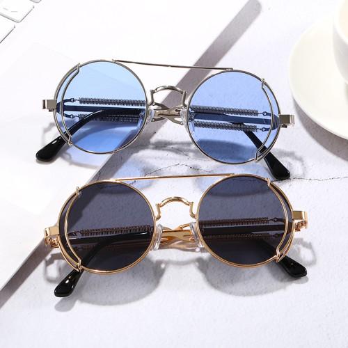 Round Metal Steampunk Sunglasses