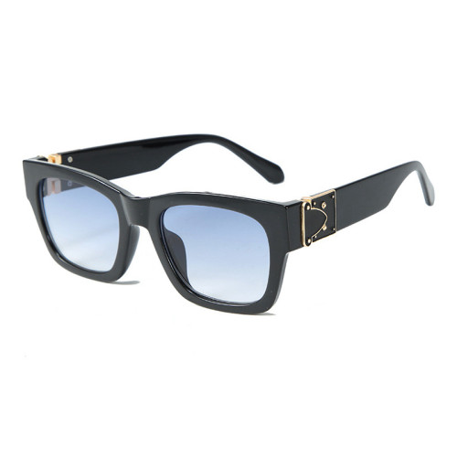 Designer Vintage Square Men Women Solid Shades Sunglasses