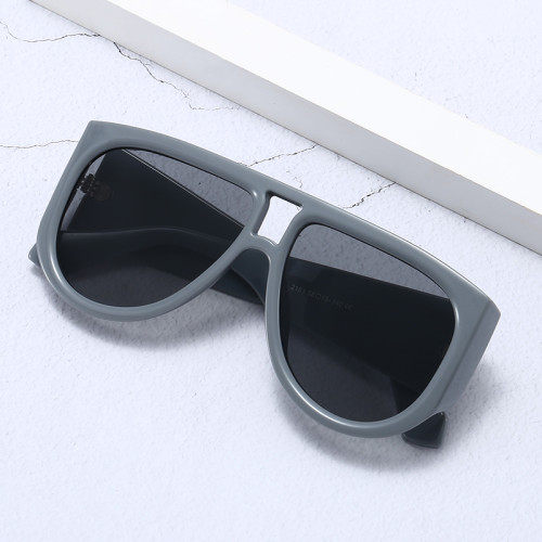 Oversized Large Frame Solid Plastic Shades Sunglasses