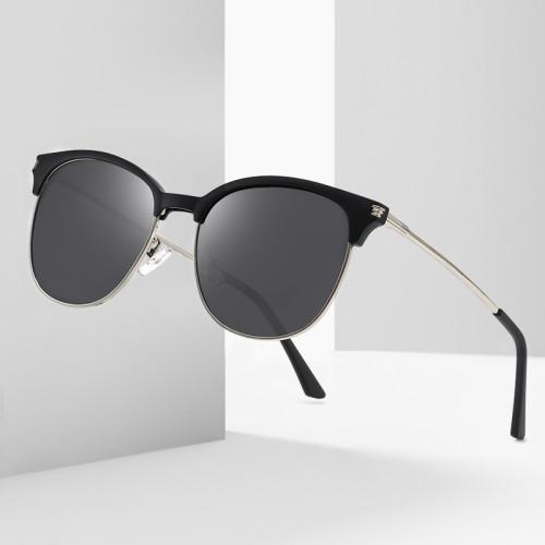 Half Rim Polarized Fashion Driving Sunglasses for Men and Women