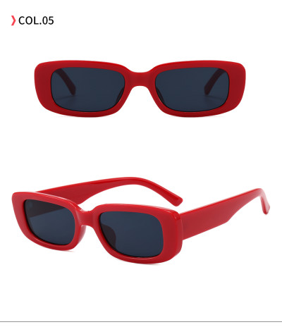 Retro 90s Vintage Solid Plastic Small Rectangle Sunglasses