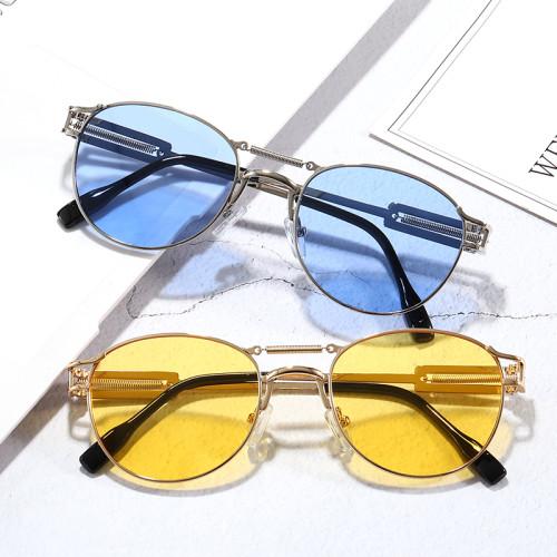 Round Vintage Steampunk Sunglasses