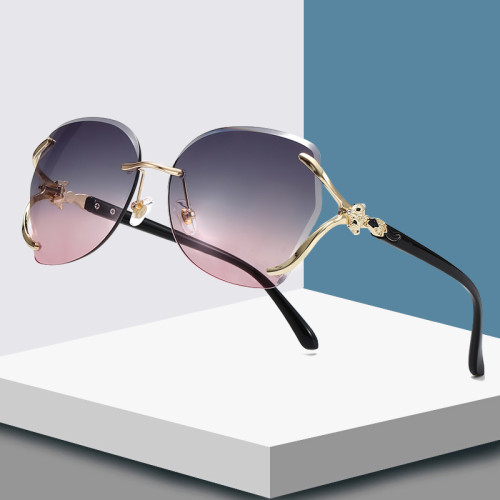 Fashion 2020 Women Rimless Butterfly Sunglasses