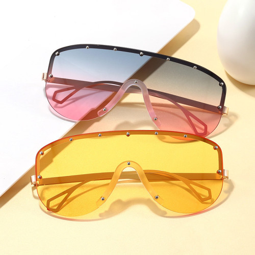 Oversize Shield Shades Sunglasses
