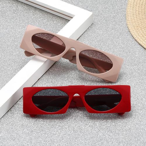 Retro Vintage Small Plastic Rectangle 90s Sunglasses