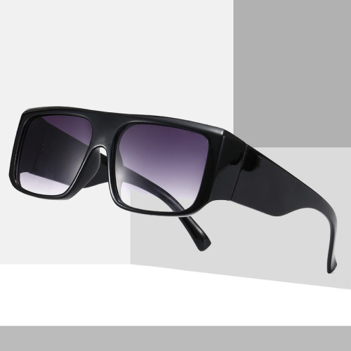 Oversized Square Black Shades Sunglasses