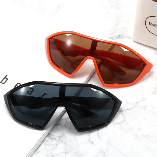 Men Women Oversized Sporty Shield Sunglasses