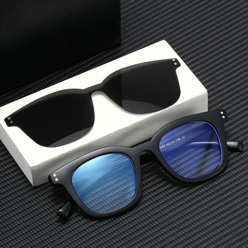 TR90 Optical Frame Polarized Magnet Clip On Sunglasses