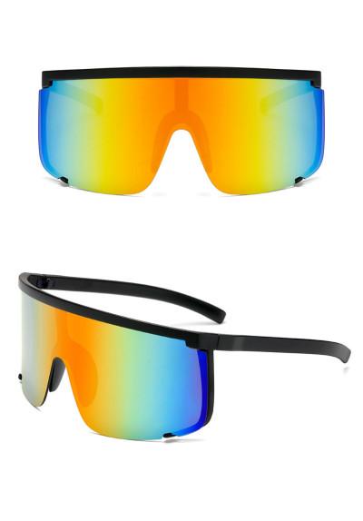Oversized Visor Sporty Shield Sunglasses