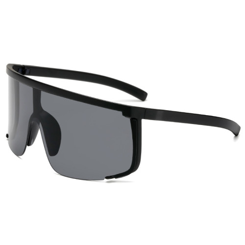 Oversized Visor Sporty Shield Sunglasses