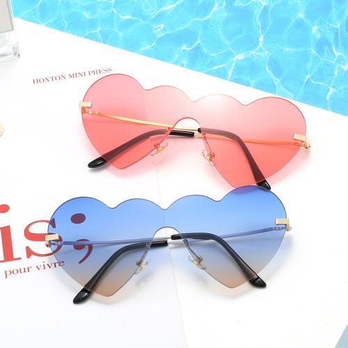 Fashion 2020 Cute Lady Rimless Heart Sunglasses
