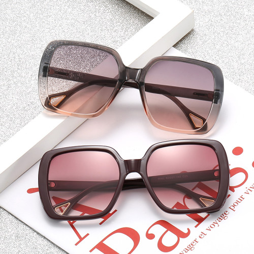 Fashion Women Square Gradient Shades Sunglasses