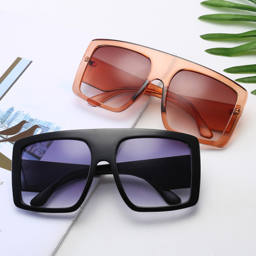 Large Frame Oversized Shield Shades Sunglasses