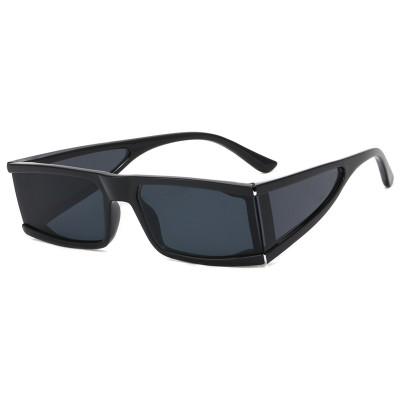 Futuristic Rectangle Silver Mirrored Sunglasses