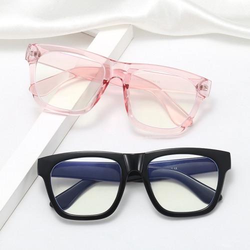 Vintage Square Plastic Frame Anti Blue Light Glasses