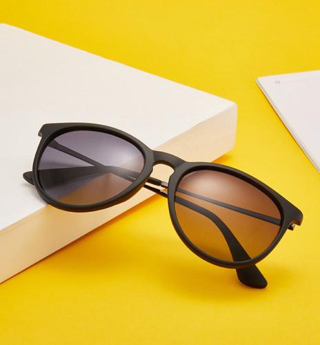 Classic Retro Oversized Round Polarized Women Sunglasses