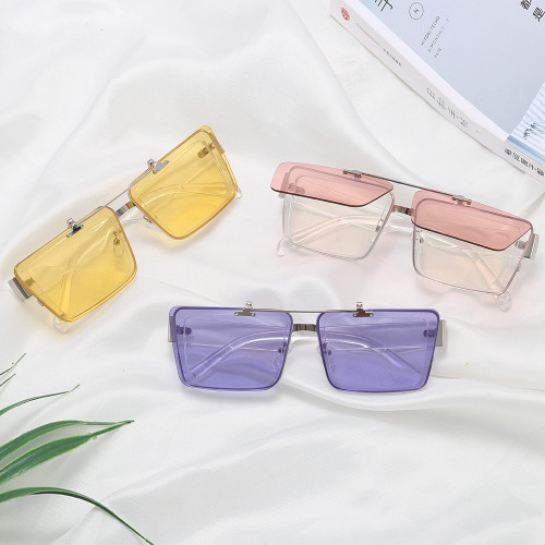 Fashion Square Flip Up Sunglasses