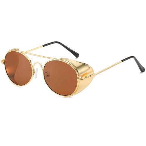 Vintage Goggles Side Shield Metal Steampunk Sunglasses
