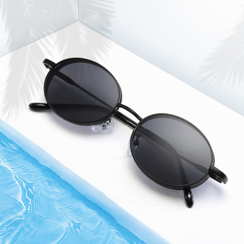 Retro Vintage Round Oval Metal Sunglasses
