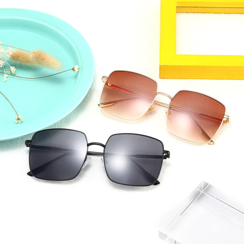 Fashion Men Women Square Metal Shades Sunglasses