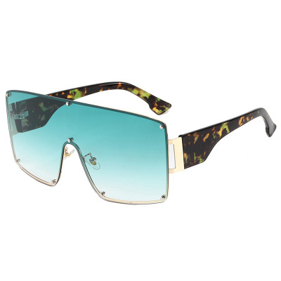 Mono Lens Oversize Shield Shades Sunglasses