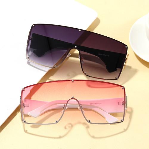 Mono Lens Oversize Shield Shades Sunglasses